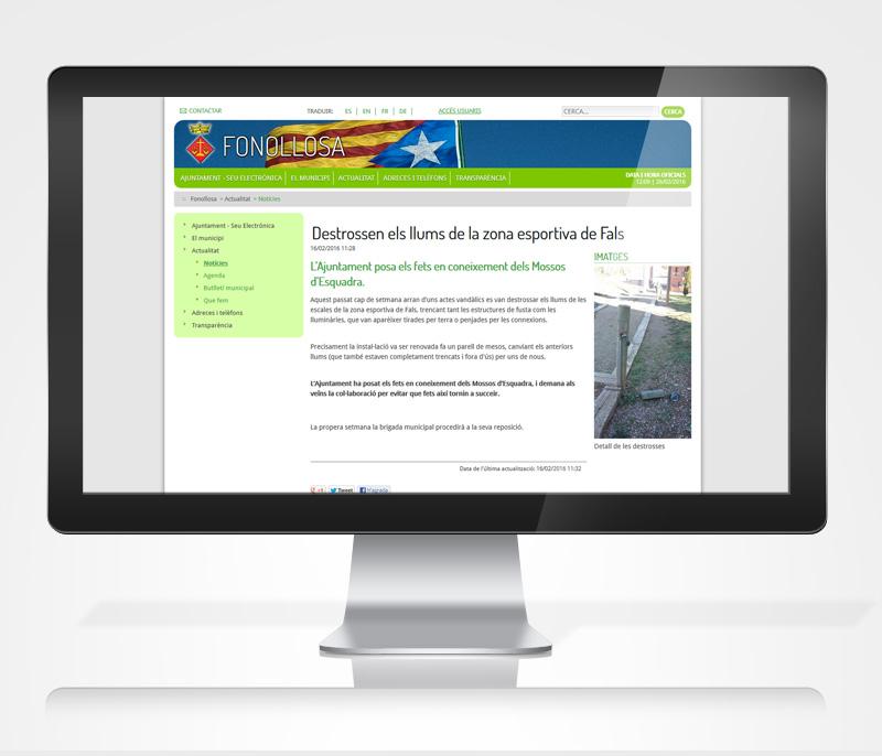 Disseny web Ajuntament de Fonollosa