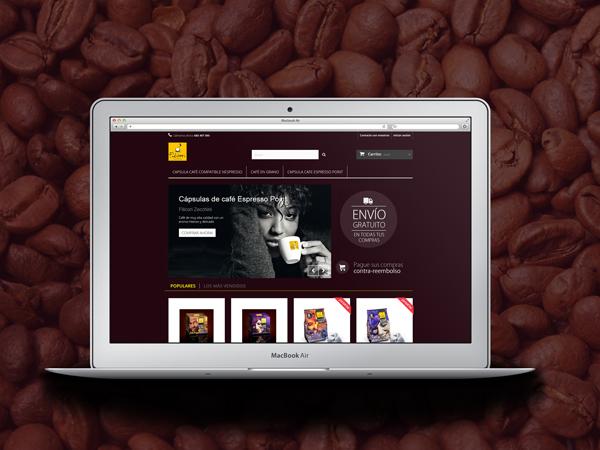 Crear botiga online per La Comercial del Cafè, de Girona.