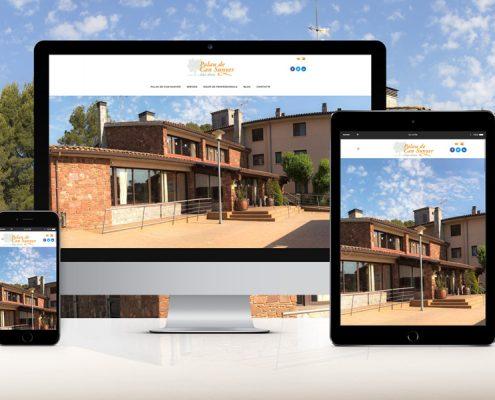 Disseny i desenvolupament pàgina web Residencia Avis Palau de Can Sunyer