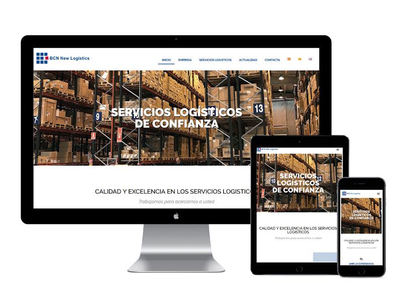 Aspecte Web responsiu empresa logistica